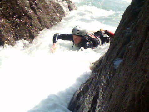Coasteering in Pembrokeshire, Wales