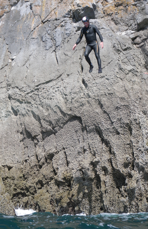 Coasteering in Wales - The Big Jump.