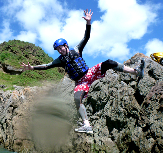Coasteering at Caswell Bay - This could be you